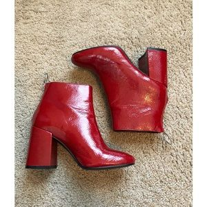 LIKE NEW‼️ F21 Red Glossy Booties